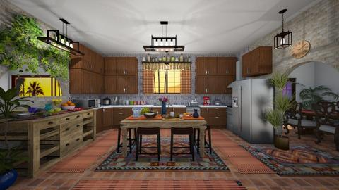 Mexi Kitchen - Rustic - Kitchen  - by  krc60