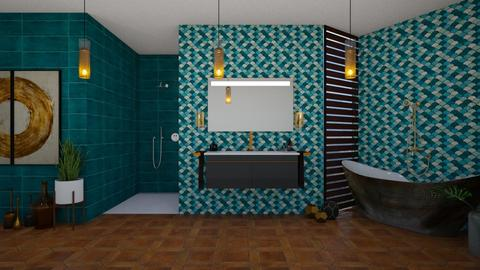 TurquoiseMetal - Bathroom - by Miss MH