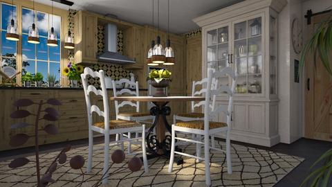 Countryside Kitchen - Rustic - Kitchen - by LuzMa HL