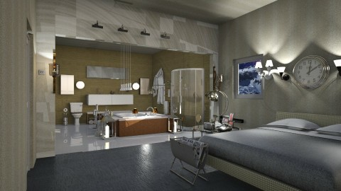 Chrome - Modern - Bedroom  - by InteriorDesigner111
