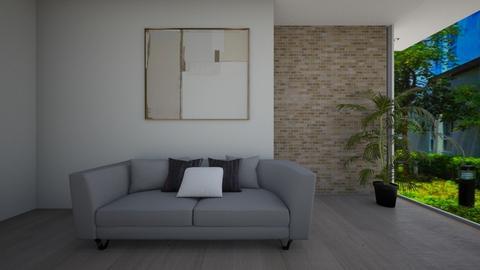 Minimalist style - Minimal - Living room - by R A I N A