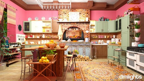 my kitchen - Country - Kitchen  - by DMLights-user-1532749