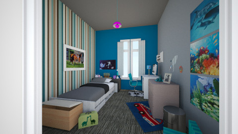 Bluey - Modern - Kids room  - by Jhiinyat
