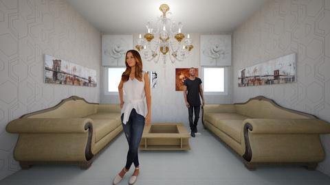Symmetrical Living Room - Living room  - by littlepickle071