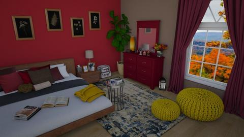 Autumn Bedroom - Bedroom  - by KrisTina94