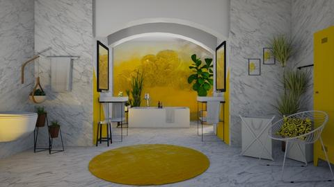 YELLOW bathroom - Bathroom  - by matina1976