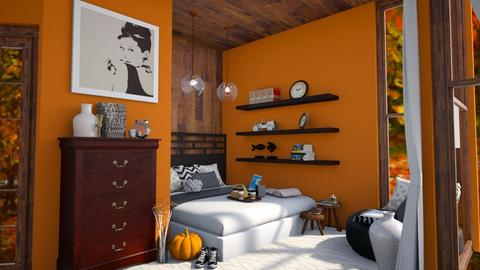 fall flavored bedroom - Bedroom  - by Annalise_585333