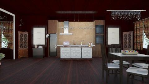 Dark - Kitchen - by ashley89