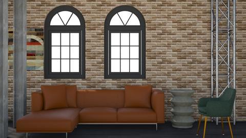 Industrial - Modern - Living room  - by rwilson0114