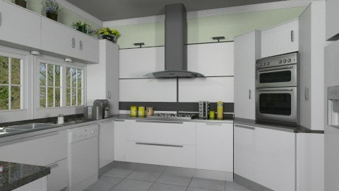 White kitchen - Modern - Kitchen  - by Bibiche