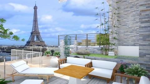 terraced garden terrace - Modern - Garden  - by jeapy