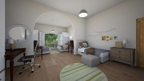College bedroom - Vintage - Bedroom  - by MiDesign