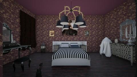 Haunted Bedroom - Vintage - Bedroom - by interiordesignmajor013