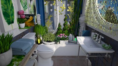 toiletA - Eclectic - Bathroom  - by donella