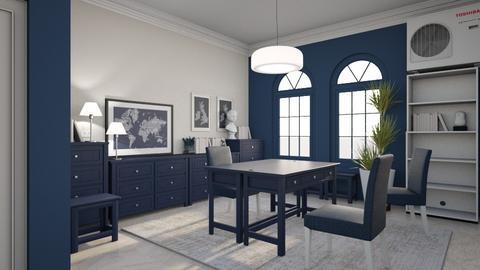 Blue Office - Office  - by LaJuno98