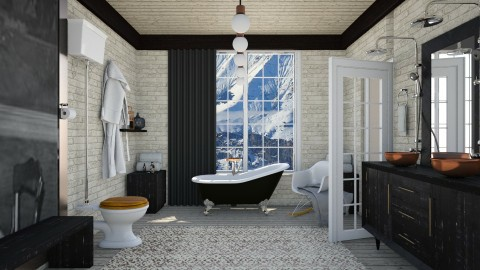 Alpine Industrial Bath - Eclectic - Bathroom  - by Eurydice