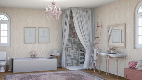 blush bath - Bathroom  - by 32103sarah
