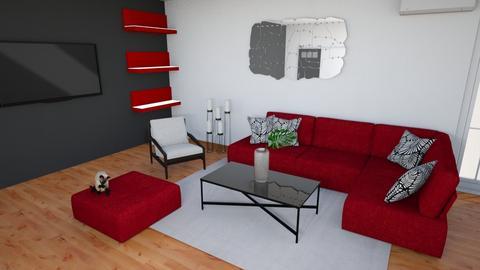 red sofa 2 - Living room  - by Psoglavik