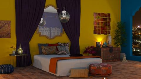 Indian Bedroom - by flowerchild369