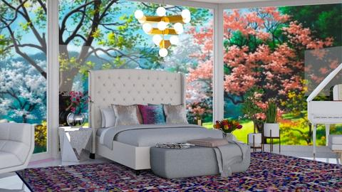 Spring - Bedroom - by beautiful luxury winter decoration