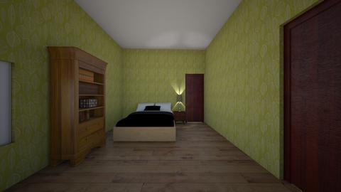 cabin bedroom - Kitchen  - by imatacocat