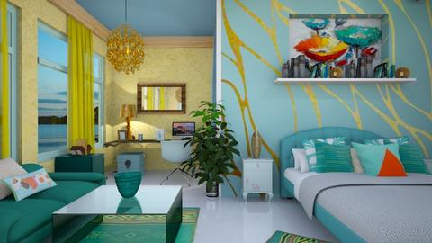 turquoise bedroom - Bathroom - by zayneb_17