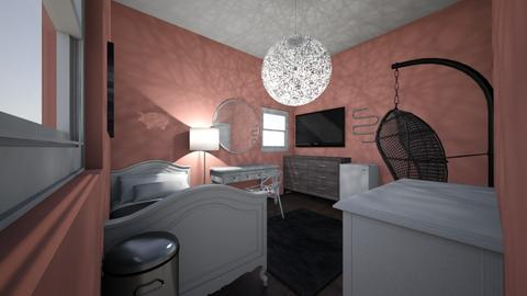 My bedroom - Retro - Bedroom  - by Carleybee