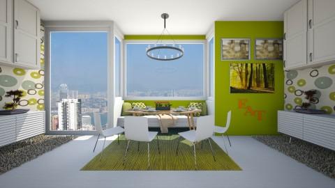 Mid Century modern dining - Modern - Dining room  - by bgref
