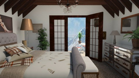 anclote attic - Classic - Bedroom  - by Lackew
