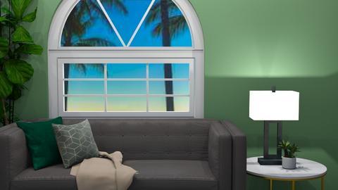 MODERN GREEN LIVING AREA - Living room  - by MilksDaBunz
