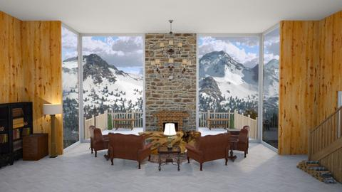 Aspen Chalet Template - Living room - by DinosOnFire