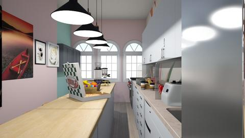 Color kitchen - Vintage - Kitchen  - by Agamanta