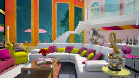yellow pink are freinds - Modern - Living room  - by aarish khan
