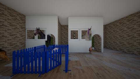 horse - Garden  - by rey_rosel