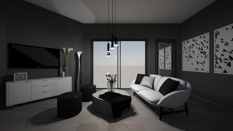 black and white - Living room  - by nika2005