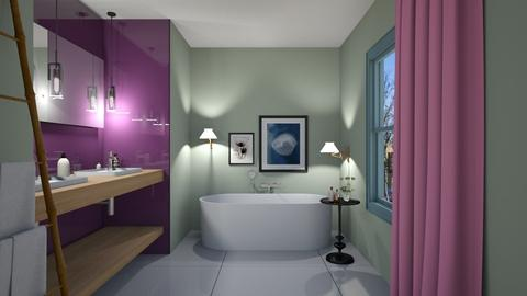 PurpleGreenPink Bathroom - Modern - Bathroom  - by 3rdfloor
