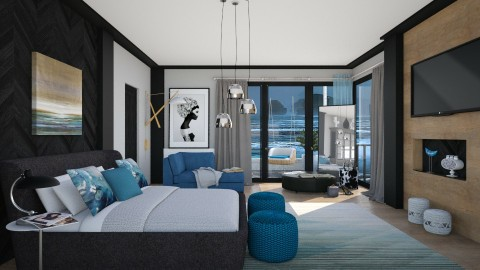 M_Blue M - Bedroom  - by milyca8