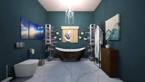 Ocean Blue - Bathroom - by seventeen_caratluv