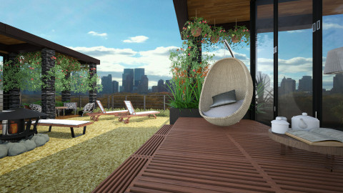 a cozy rooftop - Modern - Garden  - by Evangeline_The_Unicorn