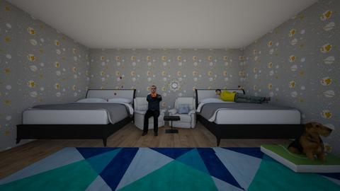 teen and dad room - Eclectic - Bedroom  - by Sofia and kiki