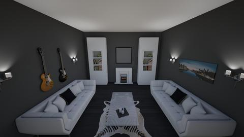 White Lounge - Modern - Living room  - by riordan simpson