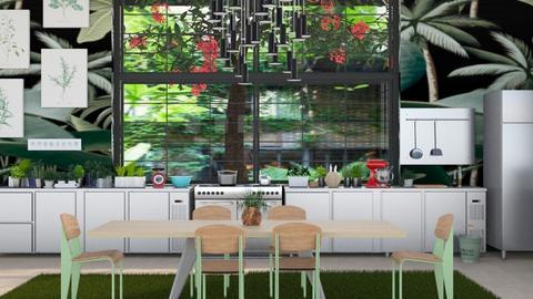 urban jungle kitchen - Modern - Kitchen  - by kitty
