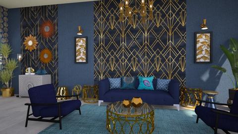 Art DEco living - Living room  - by Moonpearl