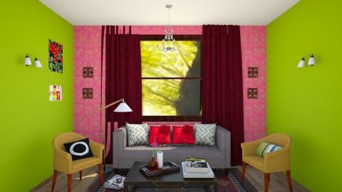 Edith Room 1 - Living room - by Tiachiel