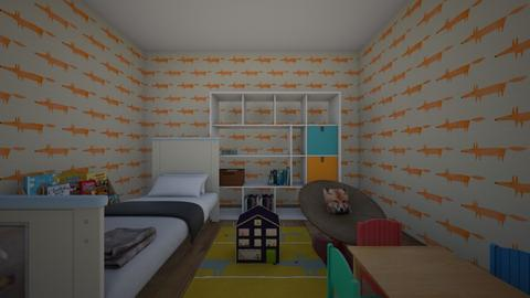 foxy bedroom - Bedroom  - by xeni