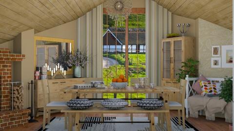 scandinavian dining - by Teri Dawn