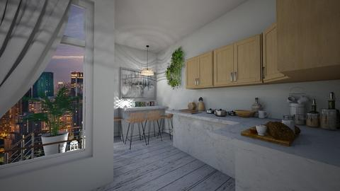 natural kitchen apartment - Kitchen  - by ange06