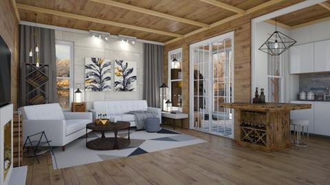 Modern Rustic Living Room - Living room - by Brenda DeVries