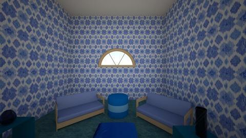 Blue Room - Living room  - by Angela Wo