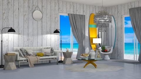 Beach themed living room  - Living room  - by Anya F